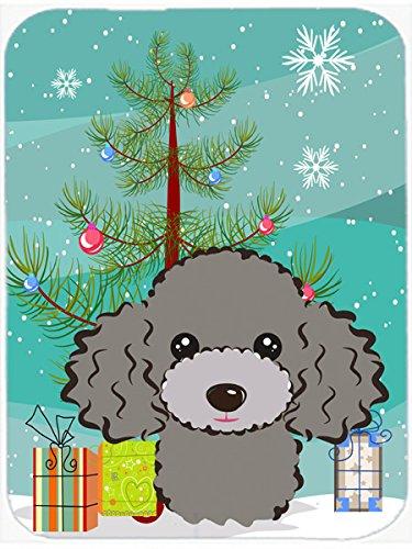 Caroline 's Treasures Árbol de Navidad y gris plata caniche alfombrilla para mouse, Hot Pad o salvamanteles, multicolor...