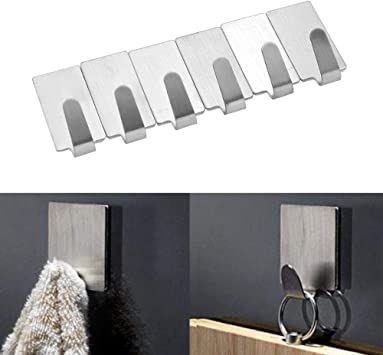Powerful Hook Hanger Organizer Holder For Door Bathroom 6pcs//set