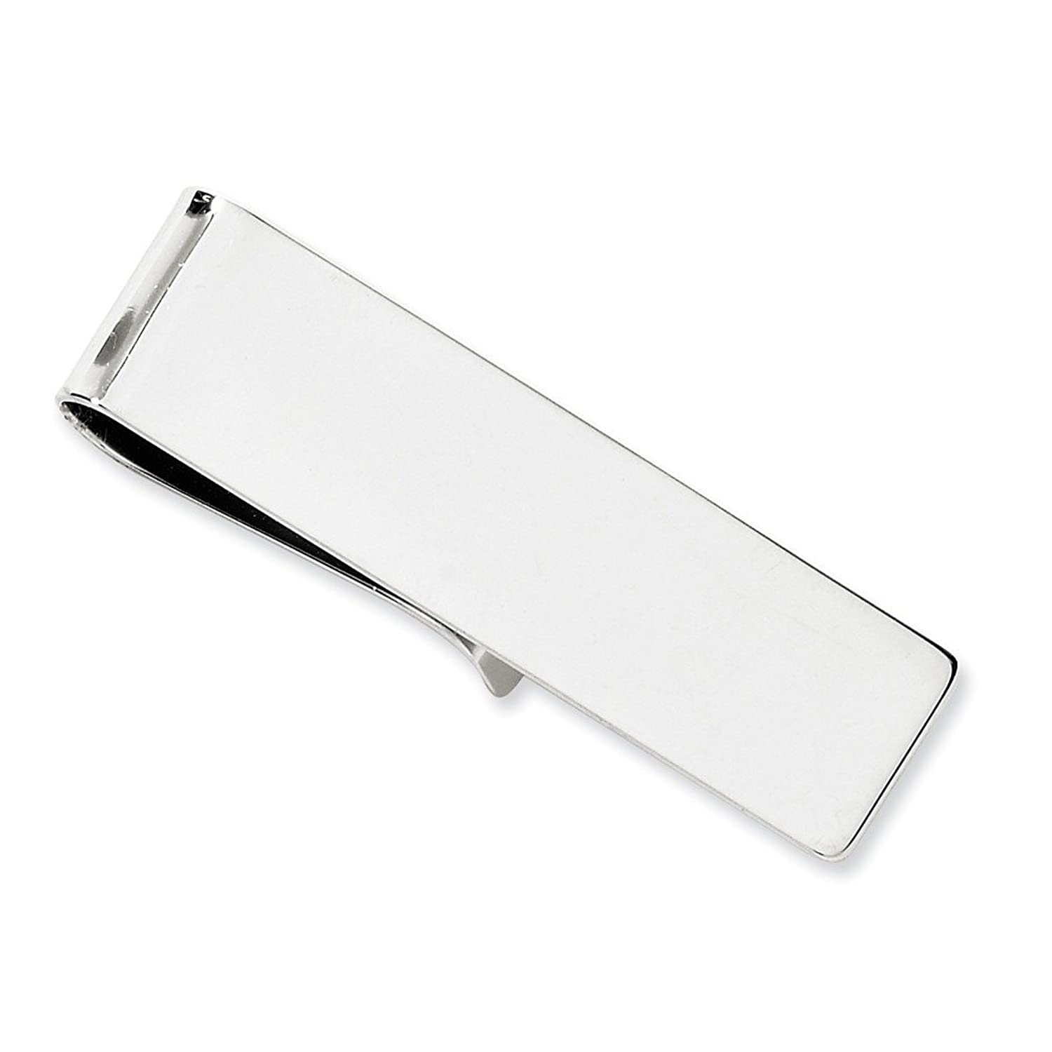 14k Solid White Gold Money Clip