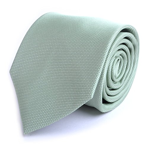 Mini Dotted Micro Fiber Poly Tie (Sage) Dotted Necktie