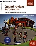 Quand revient septembre : Guide sur la gestion de classe participative