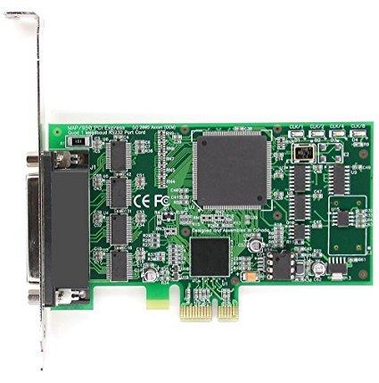 Axxon LF653KB 4 Port RS232 PCI Express (PCIe) Serial Card Adapter (Linux/Windows/VMWare/Apple OS) w/Quadplex Cable 36