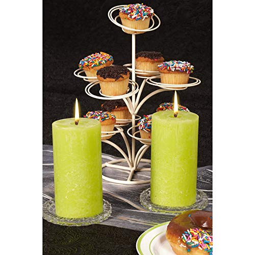 BOLSIUS 6 Pk Aprox. 5 X 2.75 Inches Rustic Lime Green Pillar Wedding Party Candles 130 X 68mm