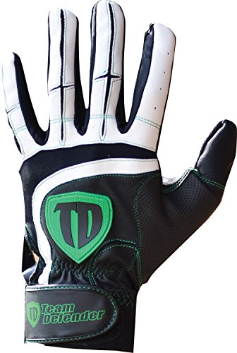 Team Defender Pro Series Protective Catcher's Glove Small White/Black Left Hand Throw