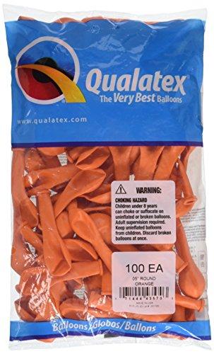Qualatex 43570 Orange Latex Balloons, 5