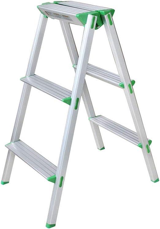 Taburete Plegable de Escalera de 3 Pasos, Aluminio, Doble Uso Ligero, para Oficina y hogar: Amazon.es: Hogar
