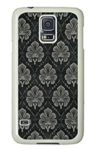 Samsung S5 cases fun Flower Cloth Pattern PC White Custom Samsung Galaxy S5 Case Cover