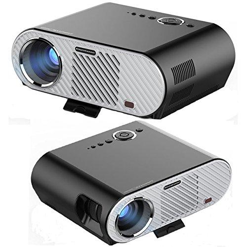 オリジナルlcd ledミニホームプロジェクター3200Lumens KTVのための1280 * 768 HD LEDプロジェクターホームシネマテレビ楽しむ大きな画面の映画HDMIケーブルレッド&ブルー3Dプロジェクター [並行輸入品] B06ZXSR4GL