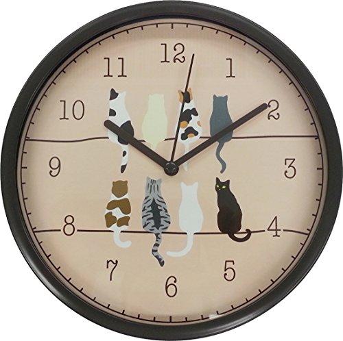 트윈 탁상시계・벽시계 고양이 약19.5×19.5cm JT014
