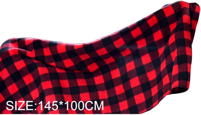 Heated Travel Blanket//Electric Car Blanket Warm in Autumn and Winter,Red Plaid,Blue150*110CM 12V Car Universal