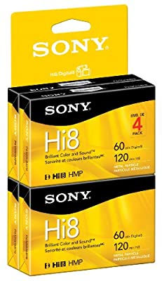 Sony Hi8 Camcorder 8mm Cassettes 120 Minute (4-Pack) (Discontinued by Manufacturer) by Sony