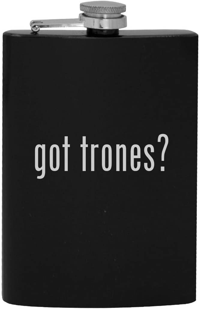 got trones? - 8oz Hip Drinking Alcohol Flask