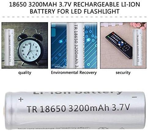 18650 3200mAh 3.7V wiederaufladbare ungesch/ützte Li-Ionbatterie Notbeleuchtung tragbare Ger/äte Elektrowerkzeug