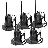 Baofeng BF-888S Two Way Radios Walkie Talkies Long Range Handheld Radios (Pack of 5)