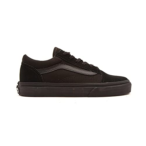 11d62fc1 Vans Old Skool Black/Black Kids Shoe W9TBKA (UK3): Amazon.co.uk ...