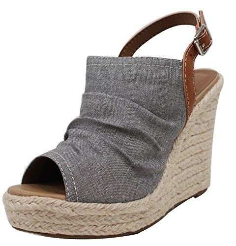 soda cork heels wedges - 5