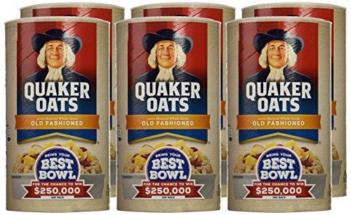 030000010204 - Quaker Oats Old Fashioned Oatmeal, 18 oz Canister carousel main 1
