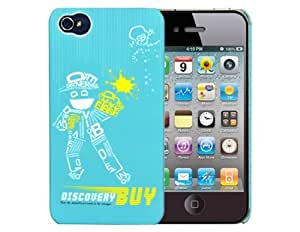 Discoverybuy 2012 The End of The World Plastic Case for iPhone 4/4S (Blue)