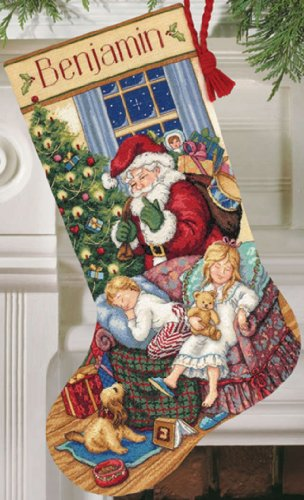 Dimensions Gold Collection Sweet Dreams Stocking Counted Cross Stitch Kit - 16