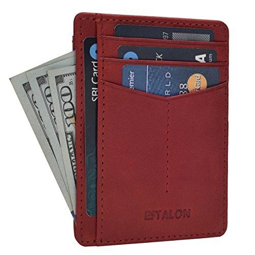 Front Pocket Slim Wallets for Men with RFID - Genuine Leathe