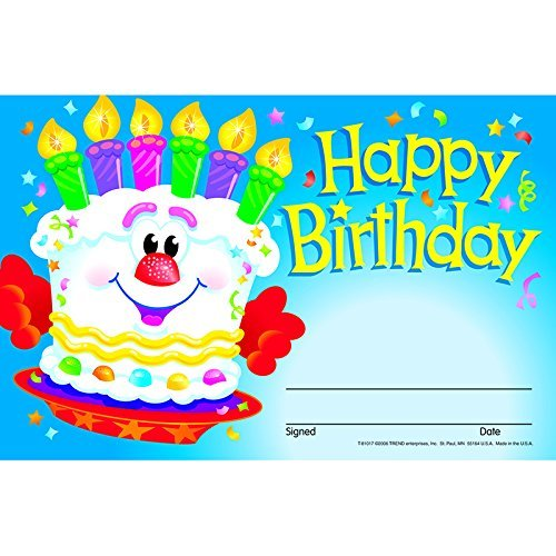 Happy Birthday-Cake Recognition Awards by Trend Enterprises Inc (Happy Birthdaycake)