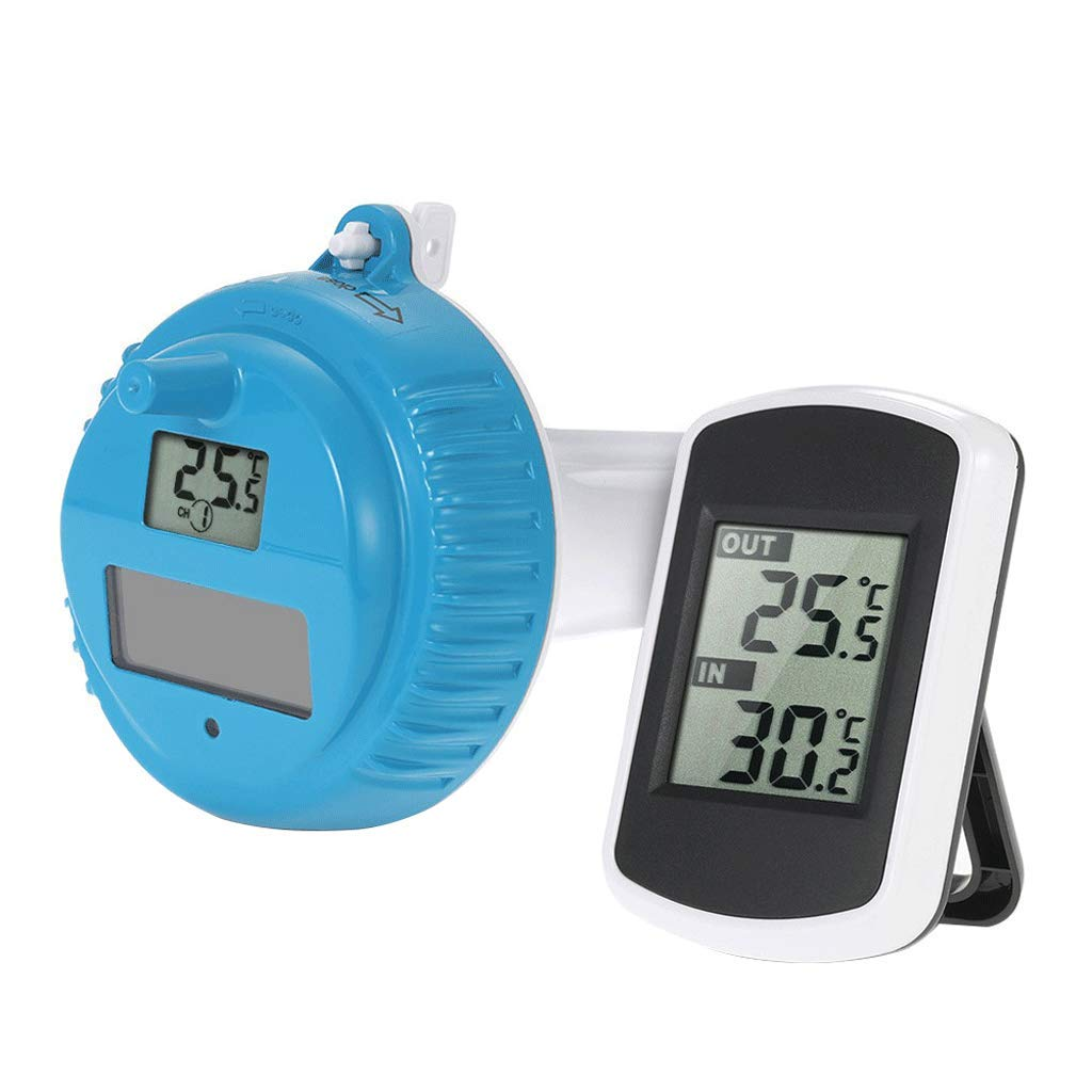 SX Floating Swimming Pool Pool Solar Wireless Thermometer, Swimming Pool Water Temperature Monitor