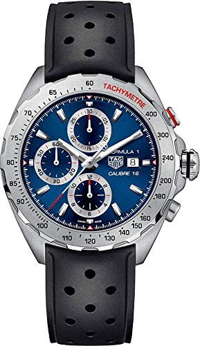 CAZ2015.FT8024 Tag Heuer Formula 1 Blue Dial Men's Watch with Black Rubber Strap