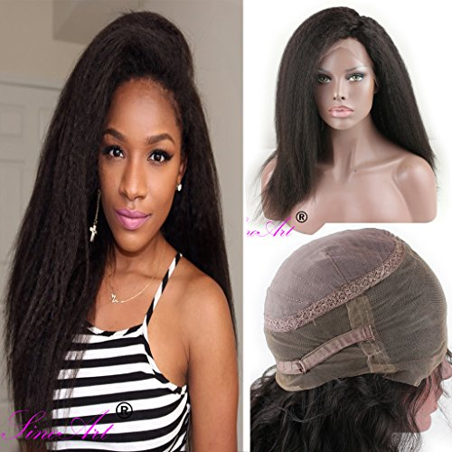 SinoArt 360 Lace Wig 2017 New Style 130% 150% 180% High Density 10A Brazilian Human Hair Wigs Kinky Straight Free Part Wig with Baby Hair for (Caucasian Wigs)