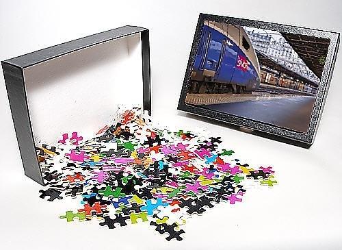 Photo Jigsaw Puzzle of A TGV awaits departure at Gare de l Est in Paris, France, Europe