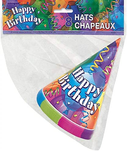 Brilliant Birthday Party Hats, 8ct