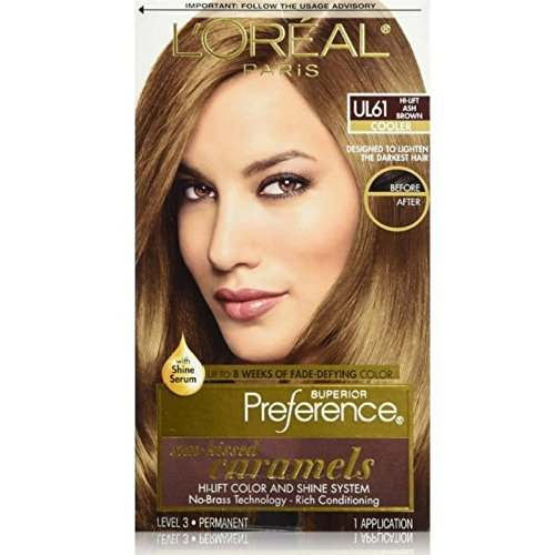 Hi Lift Browns - L'Oreal Paris Superior Preference Color Care System, Hi-Lift Ash Brown (Pack of 3)
