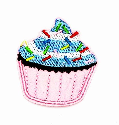 2.5 x 2 inches Cupcake sweets Cartoon Kids Children Cute Animal Patch for DIY Applique Iron on Patch T shirt Patch Sew Iron on Embroidered Badge Sign (Cupcake Halloween Costume Diy)