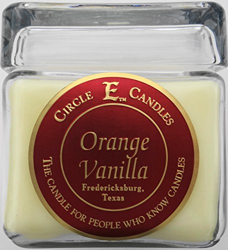 New Circle E Candle Orange Vanilla Citrus 28 Oz Jar 165 Hr Burn Time ()