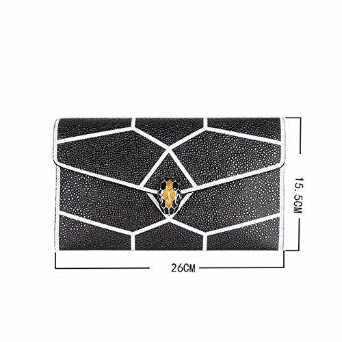 cuir le mosaïque à de en sacoche main black Black 2018 la sac dîner zqxtUfwnE