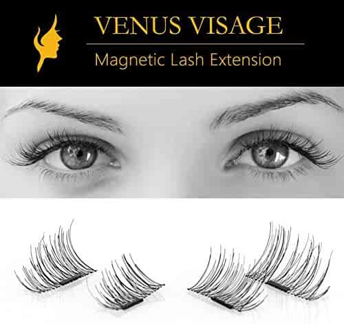 3d8cf8cddcd False Magnetic Eyelashes by VENUS VISAGE 4 Pieces | Single Magnet | 1/2 Lash