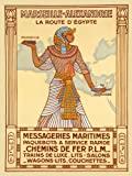 """Marseille Alexandrie Alexandria Egypt by Ship Train Travel Tourism Vintage Poster Repro 12"""" X 16"""" Image Size. We Have Other Sizes Available!"""