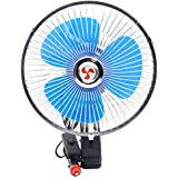 Vibola 8 inch 12V Portable Dashboard Vehicle Auto Car Cooling Oscillating Fan Clip-On