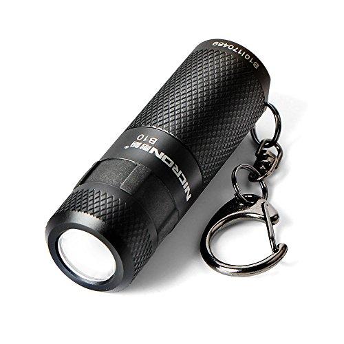 High Impact Flashlight Ring (Keychain Flashlight, NICRON Mini Rechargeable Waterproof Super Bright 200 lumens LED Keychain light Gifts)