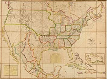 Map Of America 1820.Amazon Com 1820 Map Of The United States Of America With The
