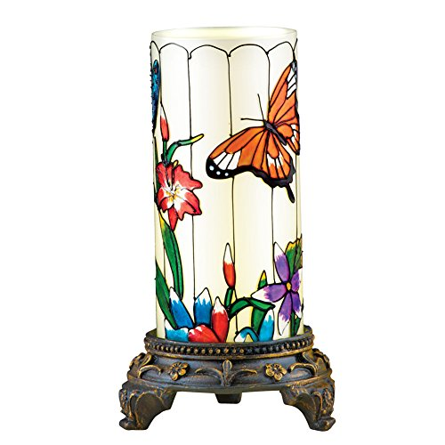 Spring Glass Table Lamp Decoration with Remote Control, (Butterfly Table Sconce)
