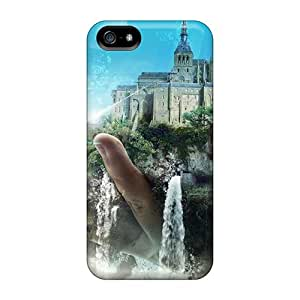 ResalucPacker VWF10208ReMU Cases Covers Skin For Iphone 5/5s (castles Moon Waterfalls 3d)