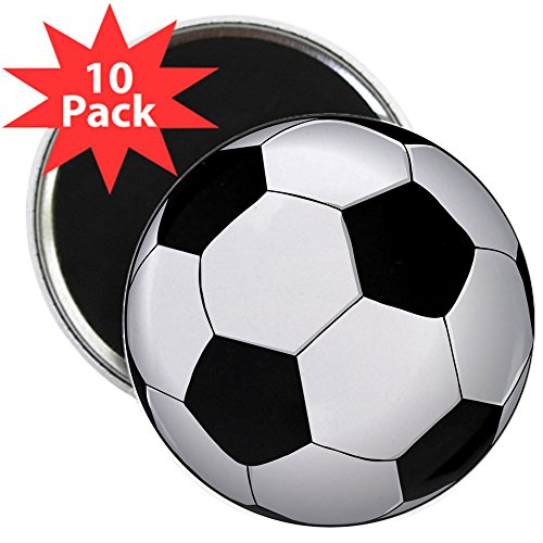 CafePress - Soccer Ball - 2.25'' Round Button Magnet (10 pack) by CafePress