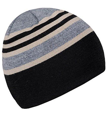 Punto Invierno Hombres Para Hombre Fiebig FI HE0 One Sombrero Gorro Rayas incl Size EveryHead Negro De 45216 A Hutfibel Beanie W16 w7pqXIp