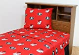 College Covers Georgia Bulldogs Printed Sheet Set, Queen