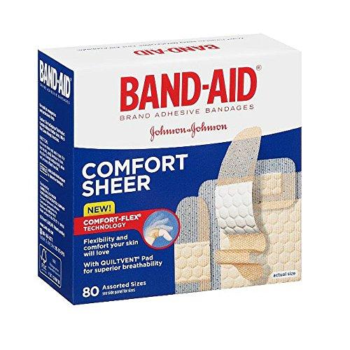 Johnson and Johnson Band-aid Comfort-flex Sheer Assorted 80s Bandage