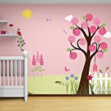 My Wonderful Walls Flower Garden Theme Wall Mural
