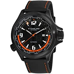 Stuhrling Original Men's 285L.3355101 Classic Traveler Now Voyager World Time Black Dial Watch