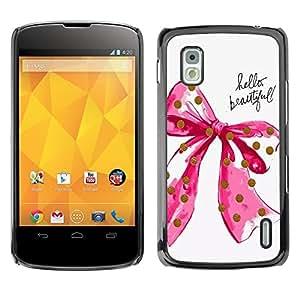 Dragon Case - FOR LG Nexus 4 E960 - the reason behind it - Caja protectora de pl??stico duro de la cubierta Dise?¡Ào Slim Fit