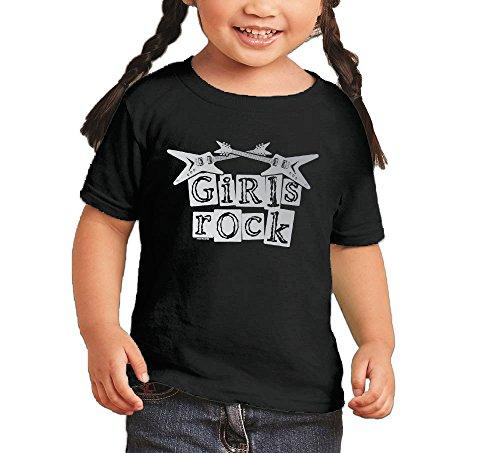Toddler/Infant Littler Girl Girls Rock - Rockstar T-shirt (4T, (Dad Rocks Toddler T-shirt)