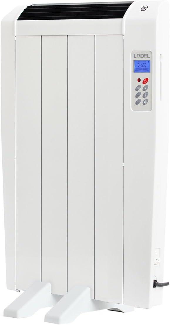 Lodel RA4 - Emisor Térmico Digital Bajo Consumo, 600 de Potencia, 4 Elementos, Programable, Diseño Ultrafino y Ligero